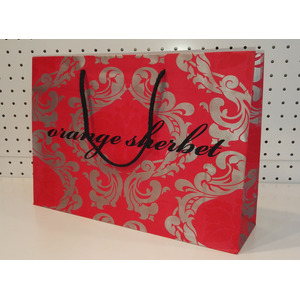 matt lamination art paper bag-oiange-AU