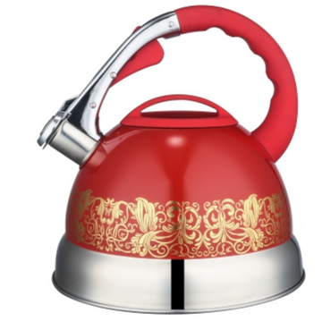 3.5L color painting whistling Teakettle red color
