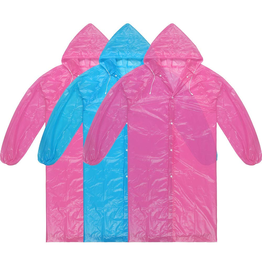 Adult Ponchos Reusable Raincoat Light Weight