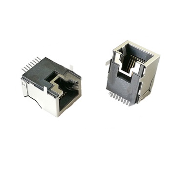 RJ45 Side Entry PCB Jack Grounding TAB