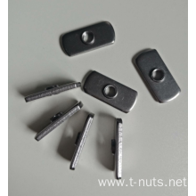 1/4-20 Weld nut Carbon steel Plain
