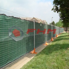 Galvanized Temporary Fence on Concrete