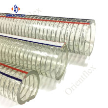pvc 2inch flexible transparent steel wire reinforced hose