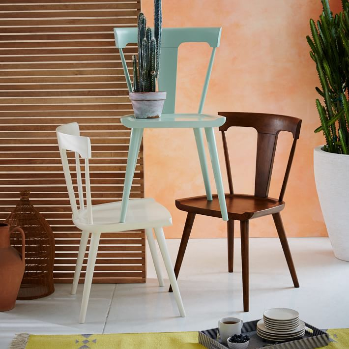 Beech wood dining chair