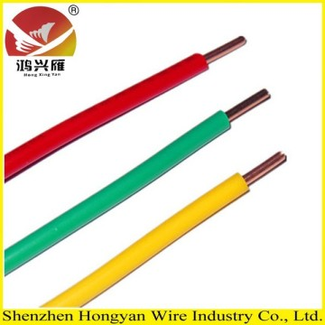 10 Years manufacturer for China Manufacturer of Single Core PVC Electrical Cable, Single Core Flexible Cable, Single Core PVC Wire pvc insulated electrical wire for house and building supply to Czech Republic Factory