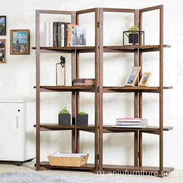Brown color Display Rack Framed room divider