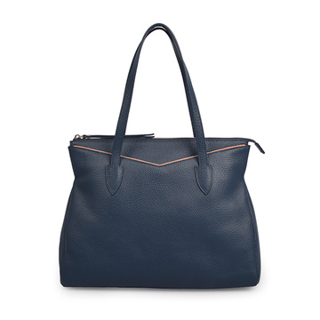 Large Hailey Crossgrain Leather Shopping Shoulder Bag