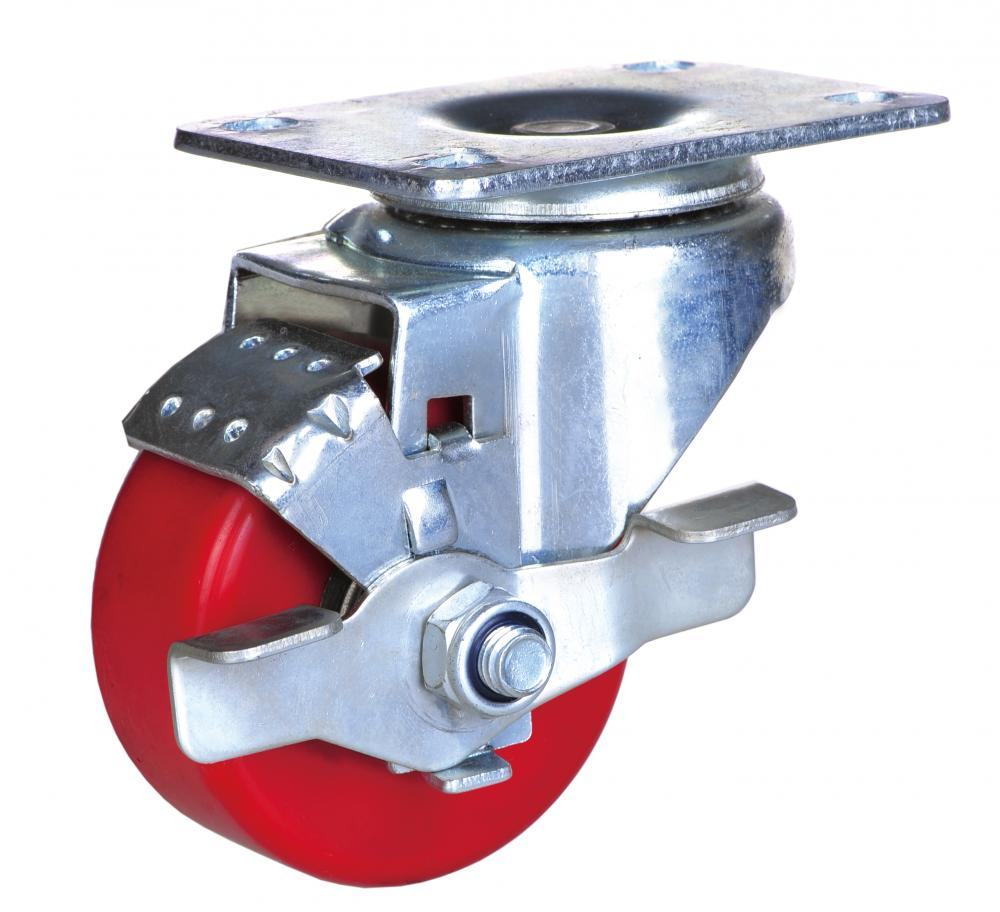 3-inch industrial caster pu wheel with brake