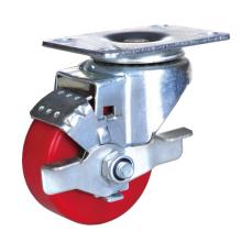High Quality for 3'' Wheel Plate Caster,Pa Wheel Caster,Small Size Furniture Caster Manufacturer in China 3-inch industrial caster pu wheel with brake export to Netherlands Supplier