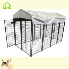 6x4x4' Square tube wire welded dog boarding crate kennel
