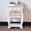 White Wood Wicker Bedside Table Chest of Drawer Storage Cabinet Bedroom