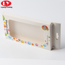 Hanger earphone paper packaging box with clear window