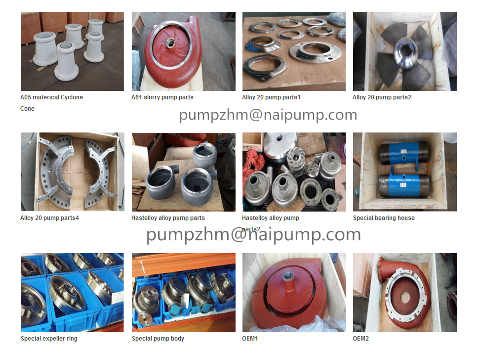 OEM slurry pump and parts