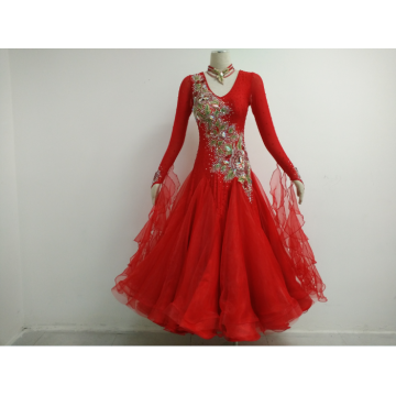 Bright red prom dress