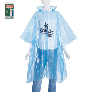 Light weight plastic disposable purple rain poncho