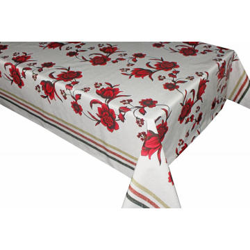 Elegant Tablecloth with Non woven backing Vinyl Massage