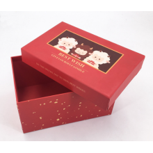 Special Design for Cosmetics Paper Packaging Box Hot Selling Red Paper Luxury Gift Box export to Japan Manufacturer