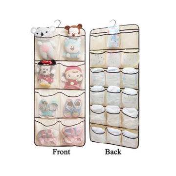 Shoe storage Over the Door 24 pockets Hanging Shoe organizer Holder Storage Bag (white)