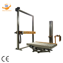 Conveyor pallet film wrap machine