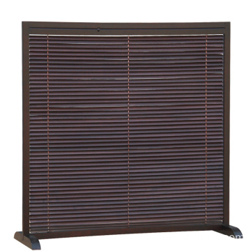 Louver, adjustable luminance, solid wood screen, partition, folding, simple modern living room mobile folding screen, double sid