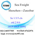 Shenzhen Port Sea Freight Shipping To Zanzibar