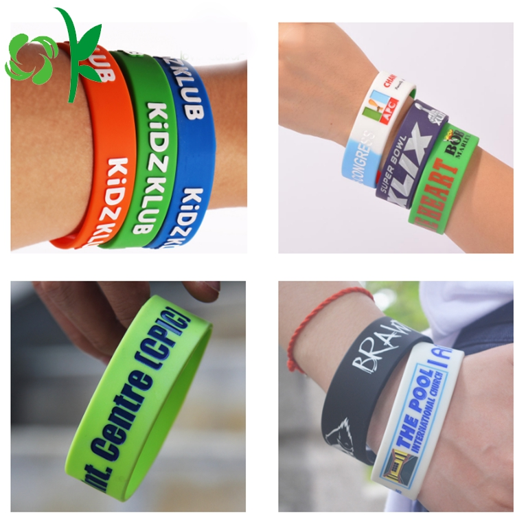 Customized Letter Silicone Bracelet