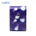 Jellyfish Staming Snap Button PU Storage Bag