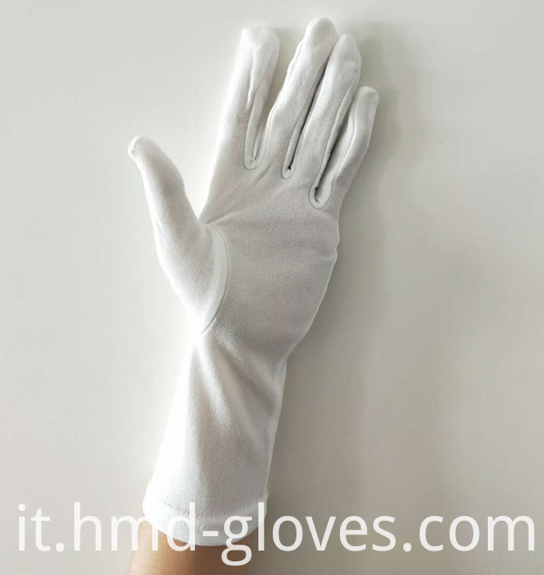 Military Parade White Nylon Gloves Palm