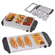 Stainless Steel Three 1.5L Pans Buffet Food Server