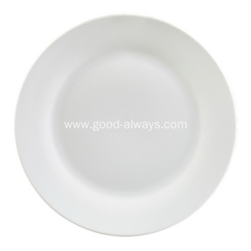10.5 Inch 26.5cm White porcelain dinner plate