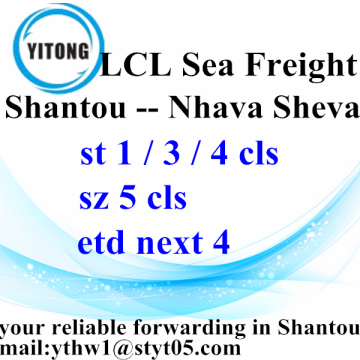 Ocean Freight Services from Shantou to Nhava Sheva