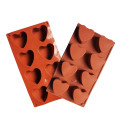 8cups heart shaped silicone chocolate cake mold