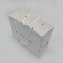 Custom Fancy Retail Carry White Card Paper Bag