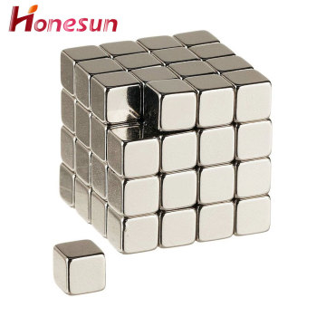 N52 nickel coating cube powerful earth neodymium magnet