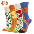 Ladies Fun Socks Flowers 4P