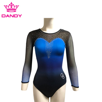 Personlized Products for Girls Gymnastics Wear custom ombre fancy gymnastics leotards export to Cambodia Exporter