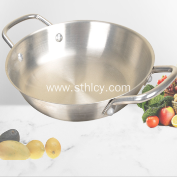 Stainless steel composite pan