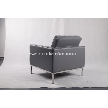 grey leather knoll sofa