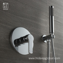 China Gold Supplier for for Shower Faucet,Bathroom Shower Faucet,Shower Mixer Faucet Manufacturer in China HIDEEP Single Function Full Copper Shower Faucet Set export to Spain Exporter