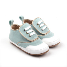 Fancy Design Powder Blue Oxford Baby Shoes