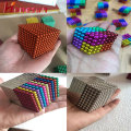 colored magnet balls 5mm neodymium with cube magnets