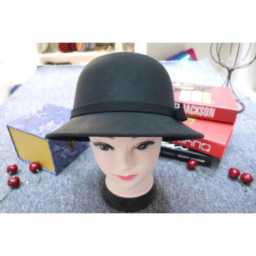 Short brim winter bucket hat wool felt hat
