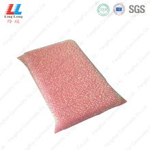 Pink silver attractive sponge cleaning