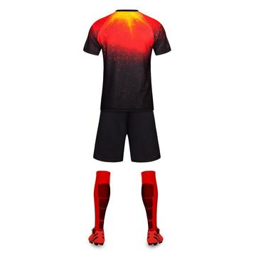 Red top soccer uniform for match training set