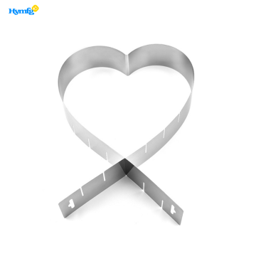 Stainless Steel Adjustable Heart Cake Ring Mold