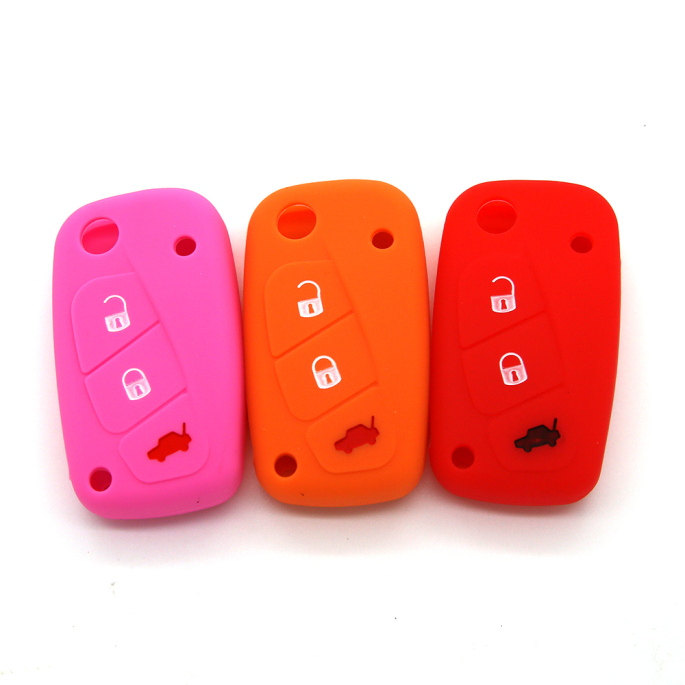 3 Buttons Key Cover Fiat