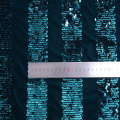 New Stripe 3mm Sequin Velvet Embroidery Fabric