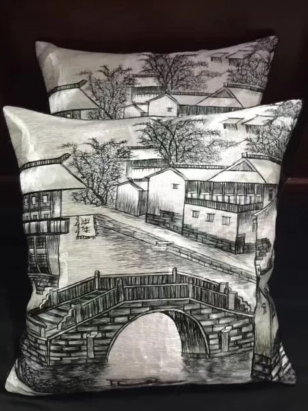 :Hand Embroidered Cushion