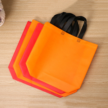 Custom thickened black non-woven bag environmental bag