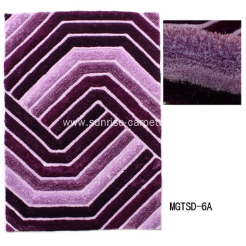 Elastic and Polyester 3D Carpet with Microfiber